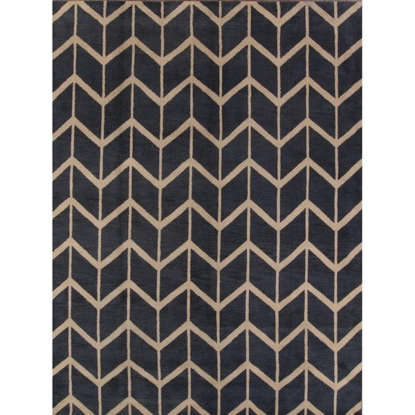 Strick & Bolton Fryatt Geometric Handmade Area Rug 9' x 12' - 9' x 12'