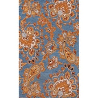 "Copper Grove Nordby Paisley Floral Indian Handmade Oriental Area Rug - 3'3"" x 5'2"""