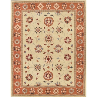 "Gracewood Hollow Dulrazak Hand-tufted Floral Wool Area Rug - 12'0"" x 9'0"""
