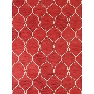 "Moroccan Trellis Oriental Hand Tufted Wool Area Rug - 8'0"" x 11'0"""
