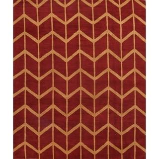 "Trellis Oriental Moroccan Area Rug Handmade Wool - 8'2"" x 9'10"""