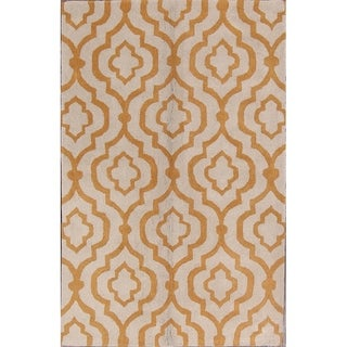"""Moroccan Traditional Indian Hand Tufted Trellis Oriental Area Rug - 8'0"""" x 5'0"""""""