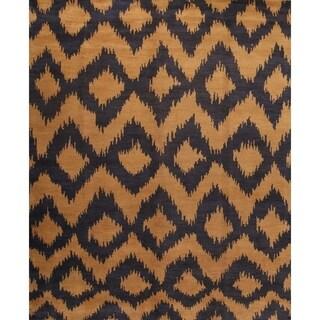 "Moroccan Oriental Handmade Wool Geometric Area Rug - 8'2"" x 9'11"""
