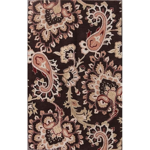 """Traditional Hand Made Oushak Agra Oriental Floral Area Rug - 8'0"""" x 5'0"""""""