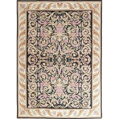 "Aubusson Chinese Traditiional Hand Made Oriental Area Rug - 11'6"" x 8'3"""