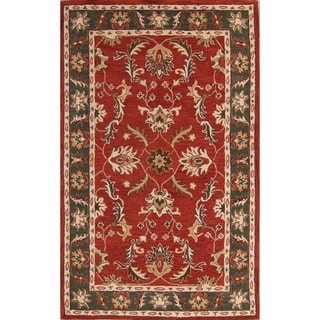 "Gracewood Hollow Barya Hand-tufted Floral Wool Area Rug - 8'1"" x 11'"