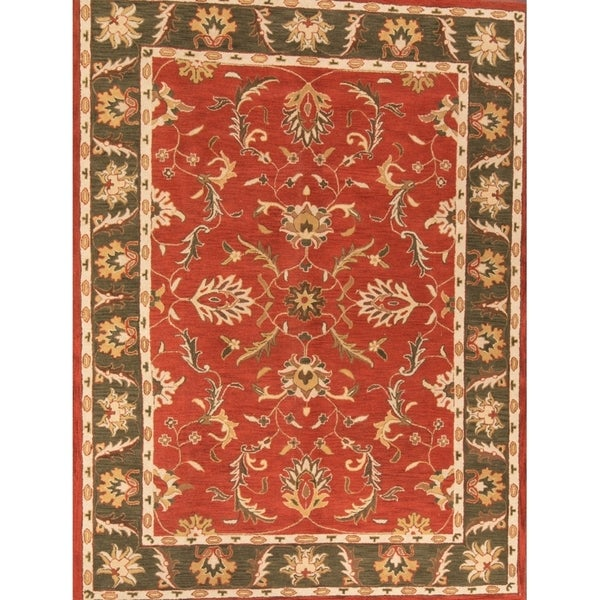 Copper Grove Haslev Hand-tufted Woolen Indian Oriental Floral Area Rug - 12' x 9'