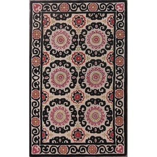 "Copper Grove Kythrea All-over Floral Agra Hand Tufted Wool Indian Oriental Area Rug - 8'0"" x 5'0"""