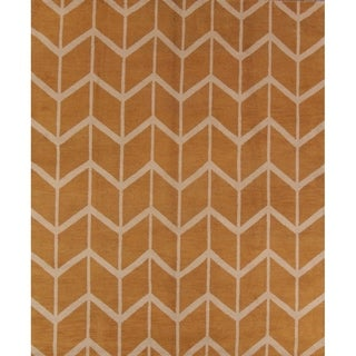 "Porch & Den Aldercreek Hand-made Moroccan Trellis Oriental Area Rug - 9'10"" x 8'3"""