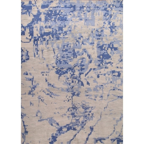 "Strick & Bolton Misia Abstract Handmade Wool Area Rug - 9'8"" x 13'10"""
