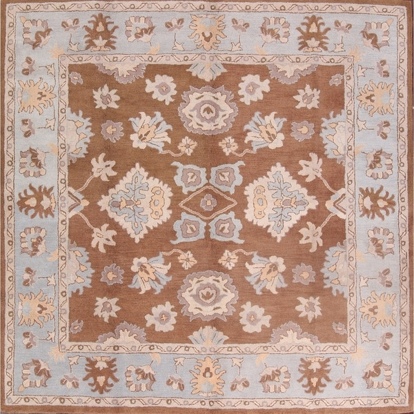 10x10 Square New Oushak Oriental Wool Area Rug: Shop Traditional Hand Made Agra Oushak Oriental Area Rug