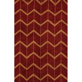 "Copper Grove Hjallerup Moroccan Geometric Handmade Oushak Oriental Area Rug - 7'10"" x 4'11"""