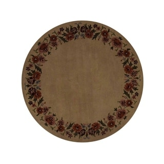 "Copper Grove Hjorring Hand-tufted Oriental Floral Area Rug Wool - 8'2"" round"