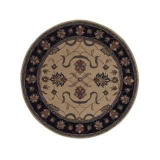 "Copper Grove Middelf Hand-tufted Wool Oriental Area Rug Beige - 5'9"" round"