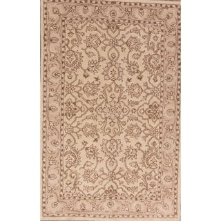 "Copper Grove Smorumnedre Hand-tufted Wool Classical Floral Area Rug Eastern Beige - 8'2"" x 5'2"""