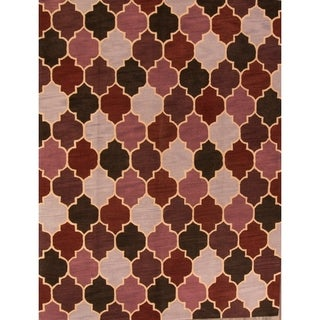 Gracewood Hollow Barungi Handmade Geometric Area Rug - 12' x 9'