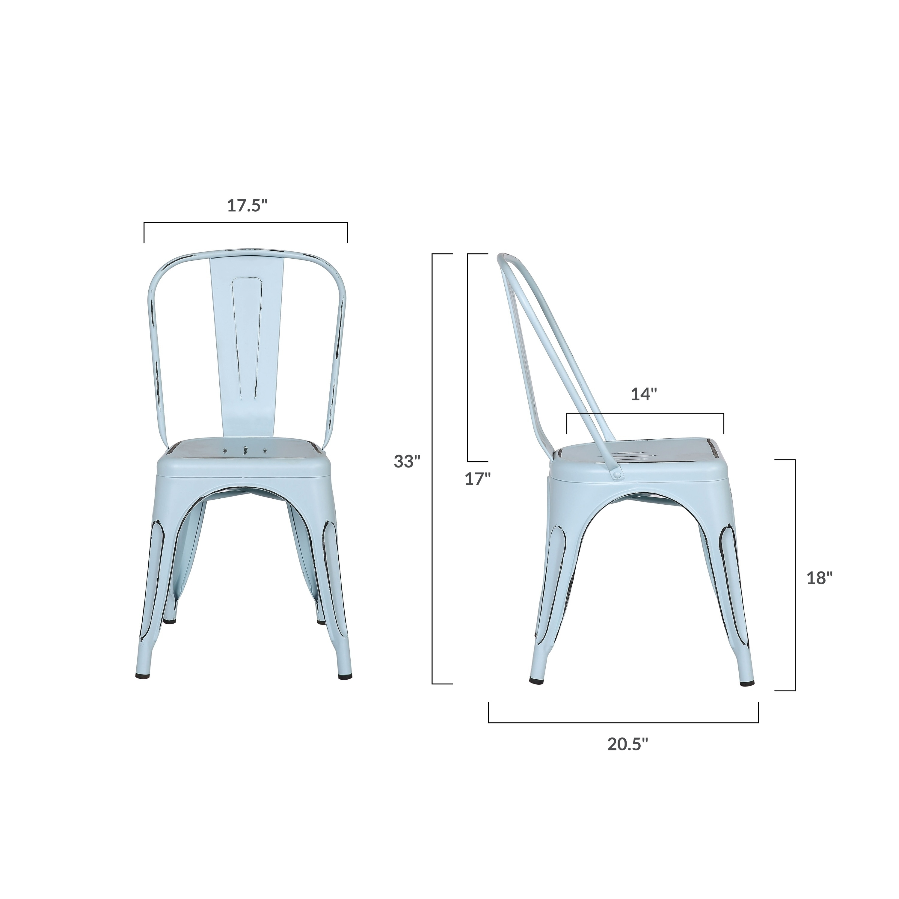 Miraculous Poly And Bark Trattoria Side Chair In Distressed Blue Bralicious Painted Fabric Chair Ideas Braliciousco