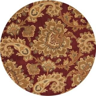 "Gracewood Hollow Isegawa Hand-tufted Paisley Wool Round Rug - 8'1"" round"