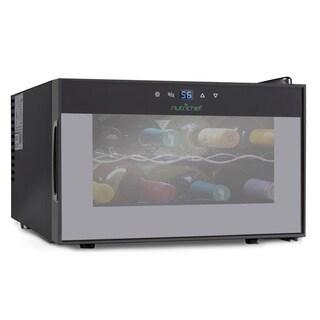 NutriChef PKTEWC806 Electric Wine Cooler - Countertop Wine Chilling Refrigerator Cellar (8-Bottle)