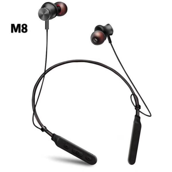 Shop M8 Hanging Neck Wireless Bluetooth Headset In Ear Stereo Earphone Overstock 25719442