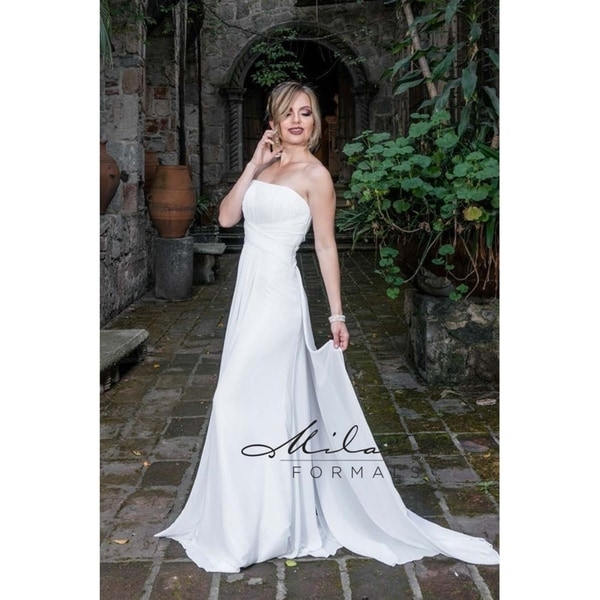 Strapless Straight Bridal Gown from Milano Formals #AA219