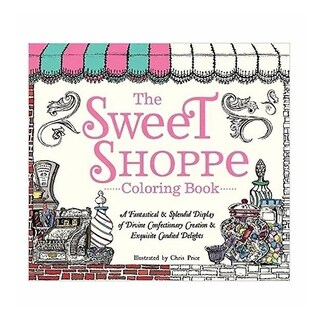 Charming Whimsical Old Fashioned Sweet Shoppe Coloring Book