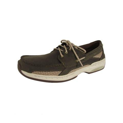 Dunham Mens Captain Slip Resistant Boat Shoes