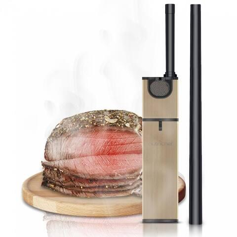 NutriChef PKSMKR25 Handheld Food Smoker - Portable Electric Wood Chip Food & Drink Smoke Flavor Infuser