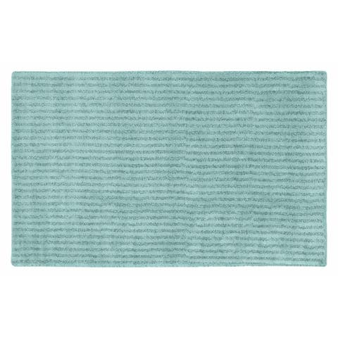 Sheridan Sea Foam Plush Washable Nylon Bath Rug Runner