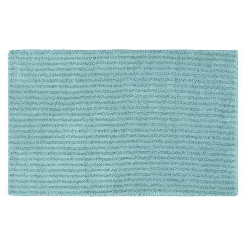 Sheridan Sea Foam Plush Washable Nylon Bath Rug Runner