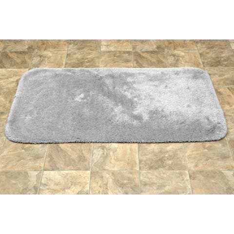 Finest Luxury Platinum Grey Ultra Plush Washable Bath Rug Runner