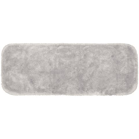 Finest Luxury Platinum Grey Ultra Plush Washable Bath Rug Runner