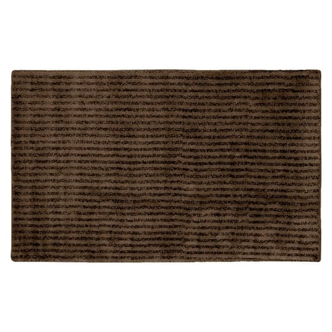 Sheridan Chocolate Plush Washable Nylon Bath Rug Runner