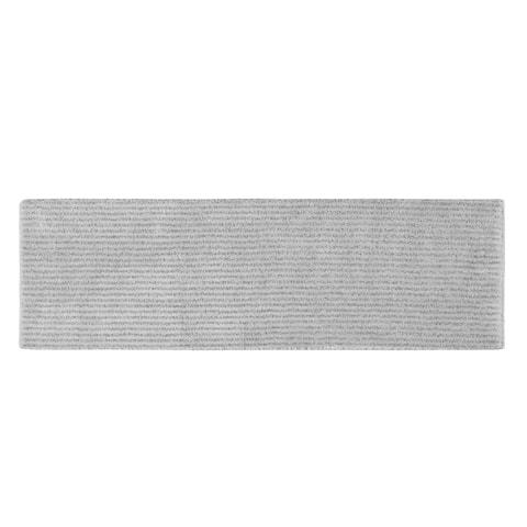 Sheridan Platinum Grey Plush Washable Nylon Bath Rug Runner