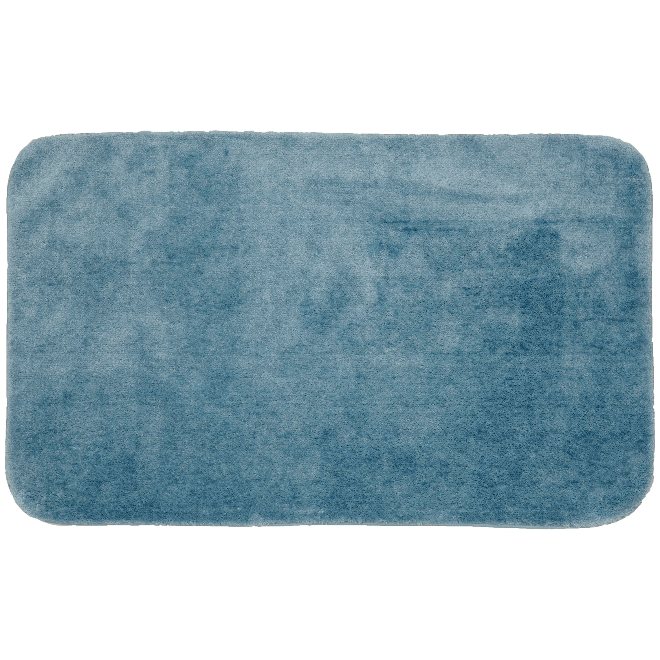 Traditional Plush Basin Blue Washable Nylon Bathroom Rug Runner Overstock 25719774 21 X 34 Lid Contour