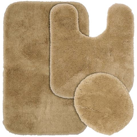 Finest Luxury Taupe Ultra Plush Washable Bath Rug Runner