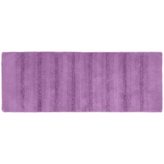Essence Purple Nylon Washable Bathroom Rug Runner