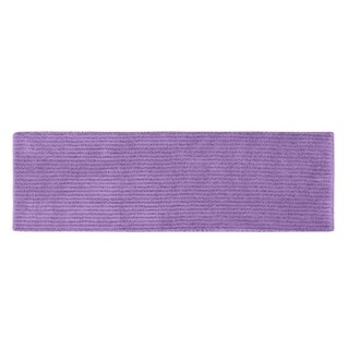 Sheridan Purple Plush Washable Nylon Bath Rug Runner