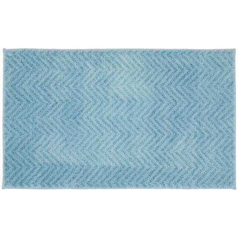 Palazzo Basin Blue Washable Bath Rug