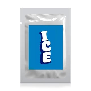 NutriChef PKICPAK5 Ice Bag Cooler Pouches Ice Cube Holding Bag with Ziplock Seal, Re-Usable (20 Bags)