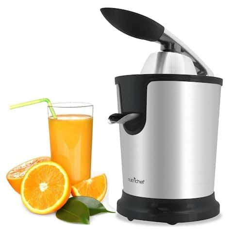NutriChef PKJCR305 Electric Juice Press - Orange Juicer Citrus Squeezer