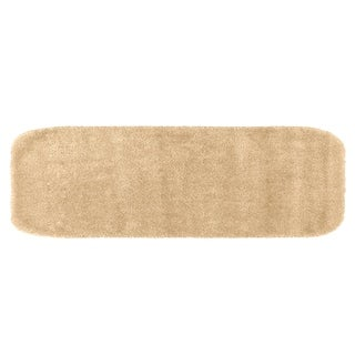 Traditional Plush Linen Washable Nylon Bathroom Rug Runner