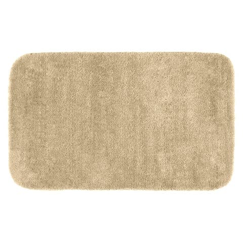 Traditional Plush Linen Washable Nylon Bathroom Rug Runner