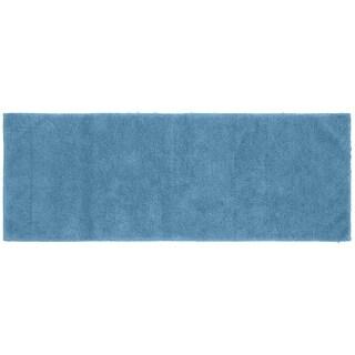 Queen Cotton Sky Blue Washable Bath Rug Runner