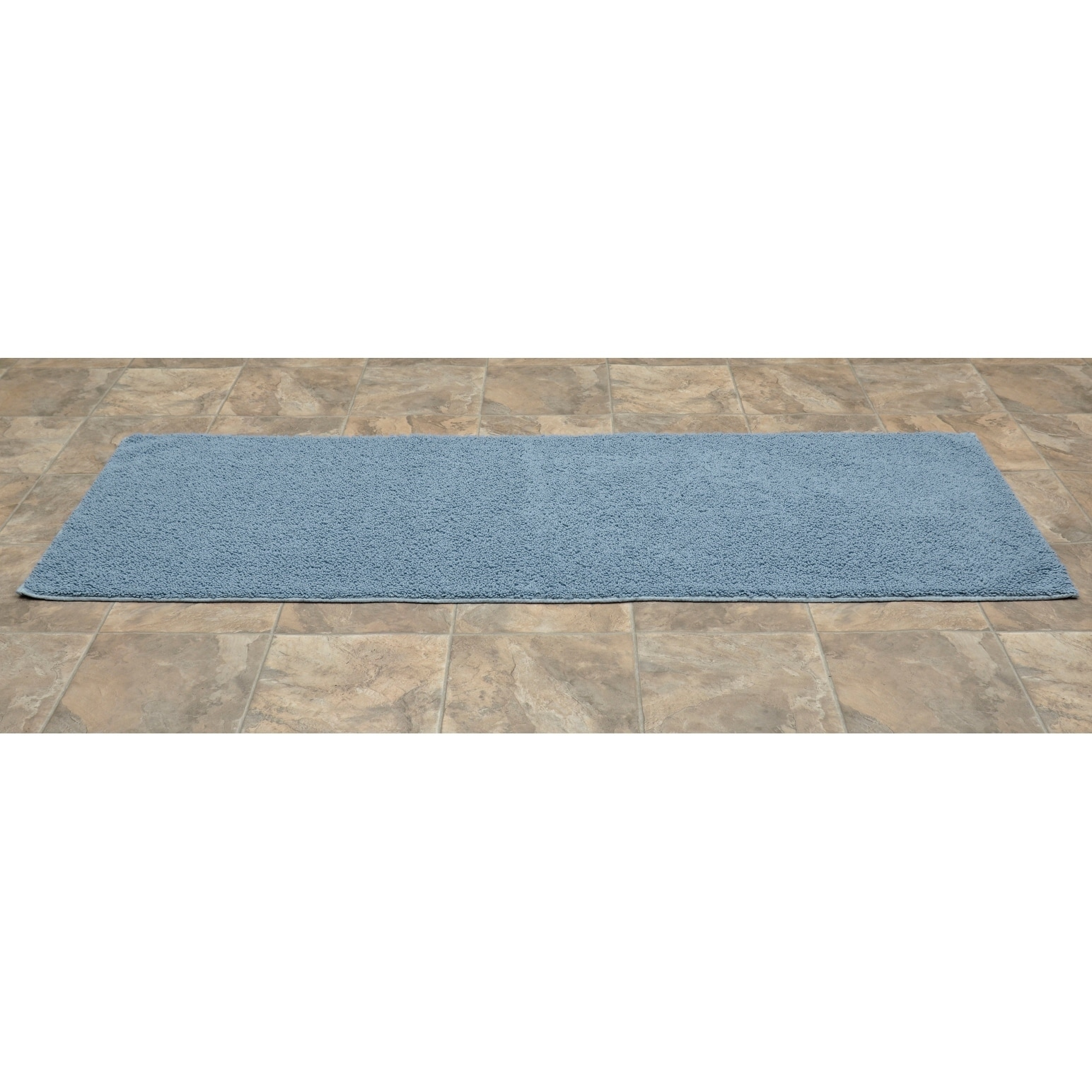 Picture of: Queen Cotton Sky Blue Washable Bath Rug Runner Ebay