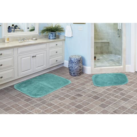 Finest Luxury Sea Foam Ultra Plush Washable Bath Rug Runner