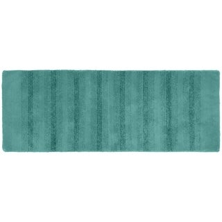 Essence Sea Foam Nylon Washable Bathroom Rug Runner