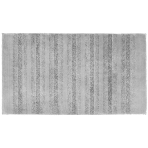 Essence Platinum Grey Nylon Washable Bathroom Rug Runner