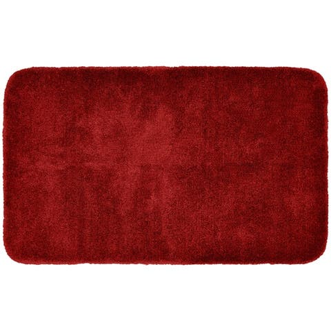 Finest Luxury Chili Red Ultra Plush Washable Bath Rug Runner