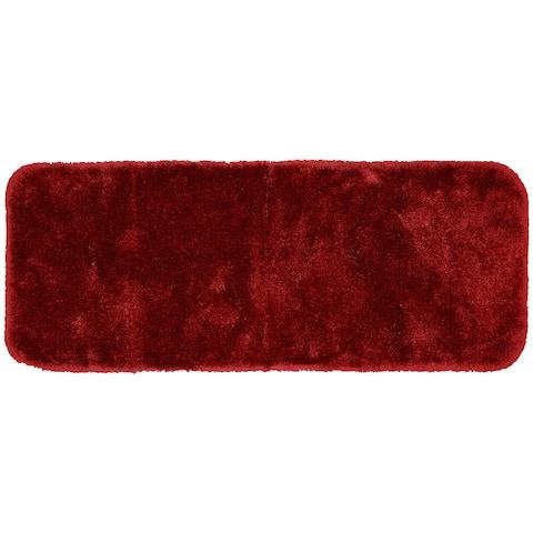 Finest Luxury Chili Red Ultra Plush Washable Bath Rug Runner